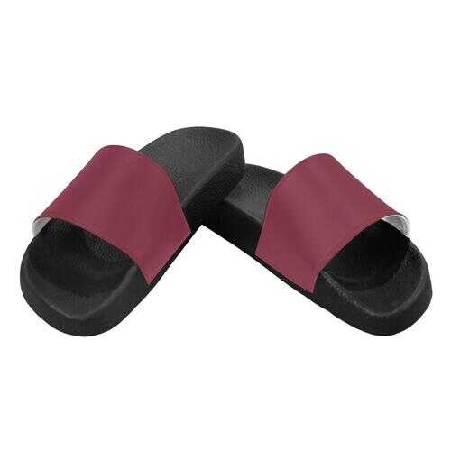 Flip-Flop Sandals, Dark Red Womens Slides