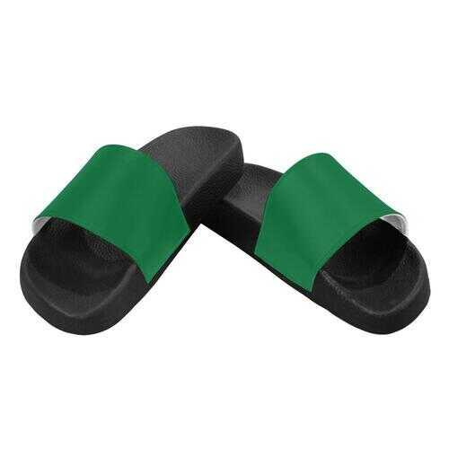 Flip-Flop Sandals, Dark Green Womens Slides