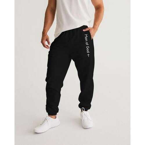 Man Of God Graphic Text Style Mens Athletic Track Pants