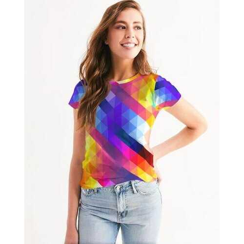 Colorful Grid Style Womens Shirt