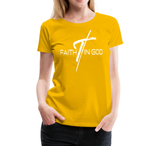 Faith In God Graphic Text Style Womens Classic T-Shirt