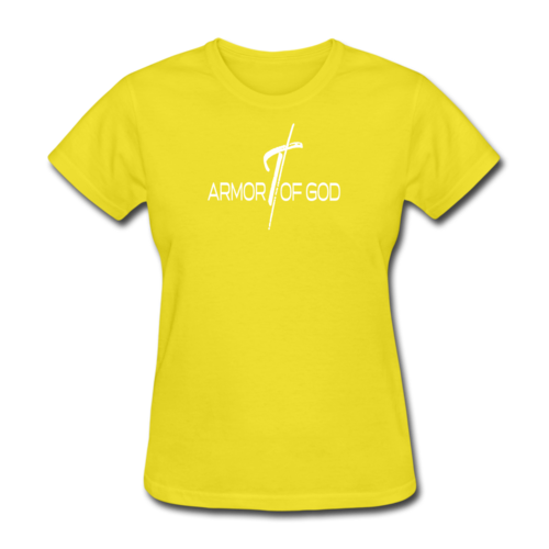 Armor Of God Graphic Text Womens T-Shirt