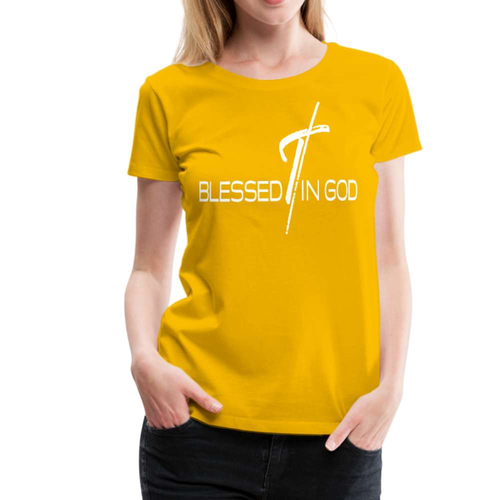 Blessed In God Graphic Text Womens T-Shirt