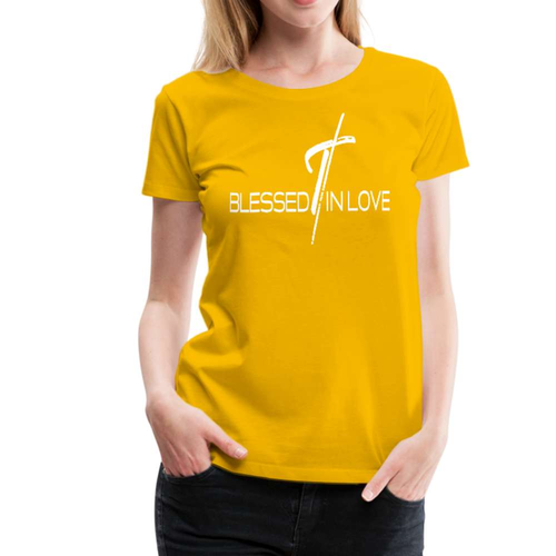 Blessed In Love Graphic Text Style Womens Classic T-Shirt