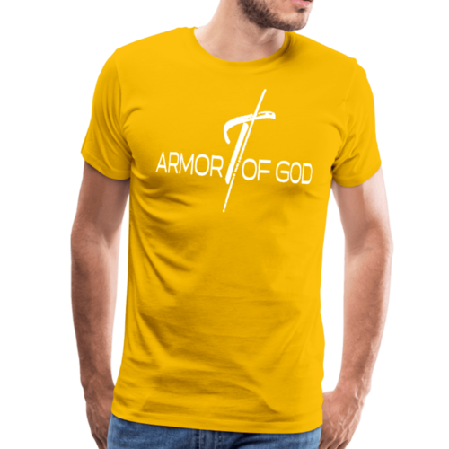 Armor Of God Graphic Text Mens T-Shirt