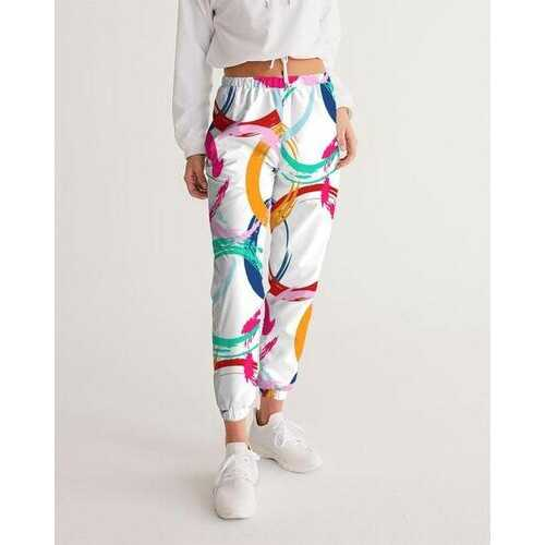 Womens Sportswear, Multicolor Circular Swatch Style Track Pants