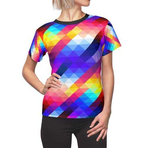 Womens Shirts, Vibrant Gradient Style Womens Top
