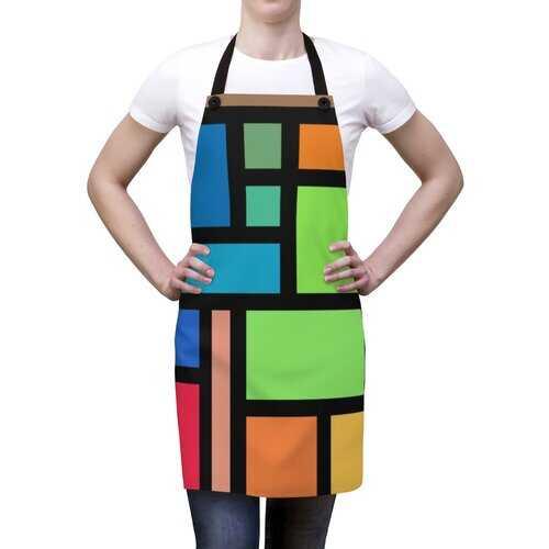 Unisex Apron, Colorful Block Design