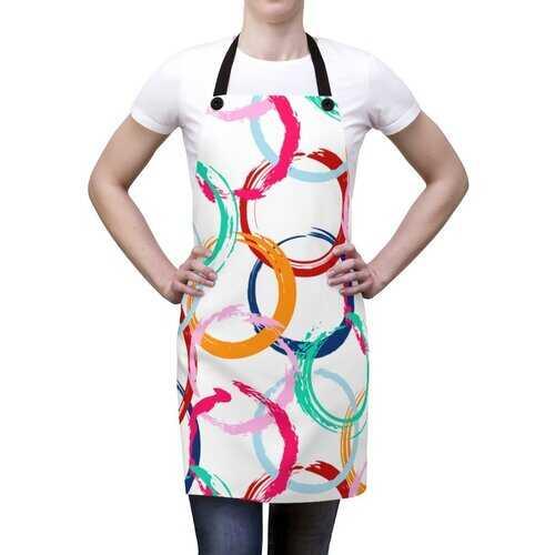 Unisex Apron, Colorful Circular Design