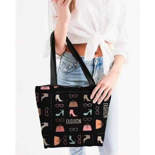 Canvas Tote Bags, Fashion Me Fabulous Style Shoulder Bag