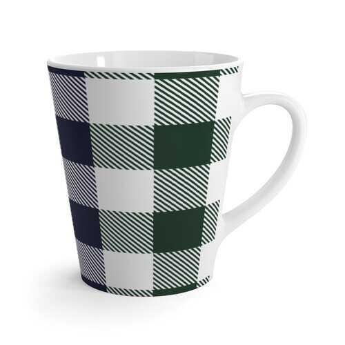 Grid Stripes Style Latte Mug