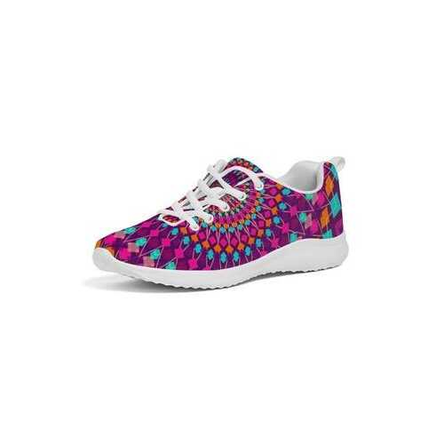 Kaleidoscope Abstract Style Womens Athletic Sneakers