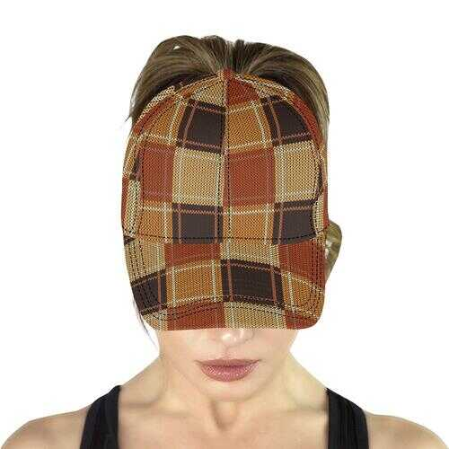 Brown Checker Style Snapback Cap