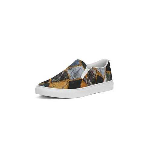 Mosaic Style Womens Slip-On Canvas Sneakers