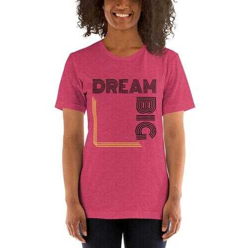 Dream Big Short-Sleeve Tee - White And Black