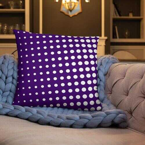 Purple Dotted Style Decorative Throw Pillow