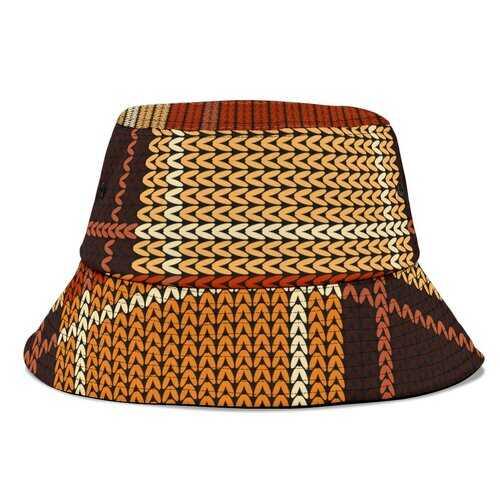 Brown Checker Style Bucket Hat