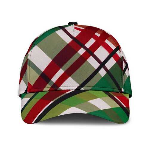 Red And Green Plaid Style Classic Cap