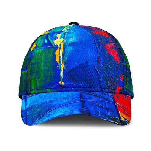 Colorful Abstract Paint Style Classic Cap