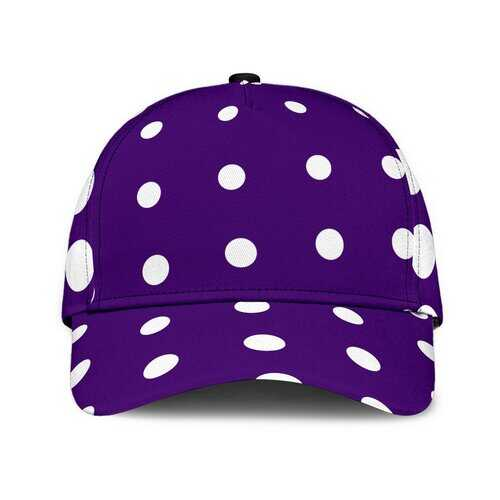Purple And White Dotted Style Classic Cap