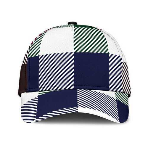 Blue Red And Green Plaid Style Classic Cap