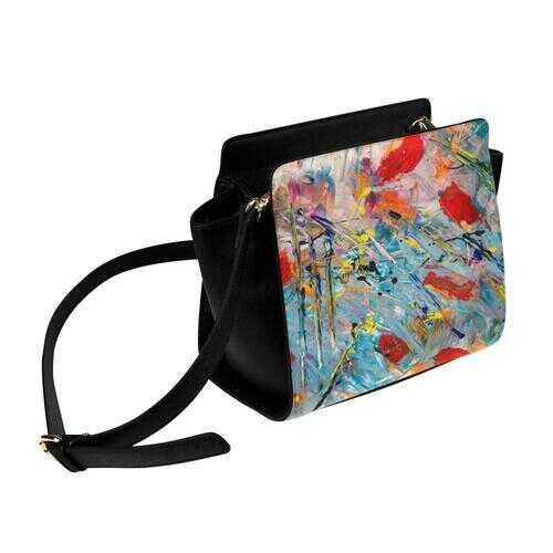 Shoulder Bags, Multicolor Paint Splatter Style Crossbody Bag