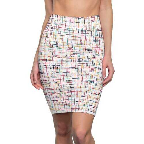 Womens Pencil Skirt, Colorful Stripe Style