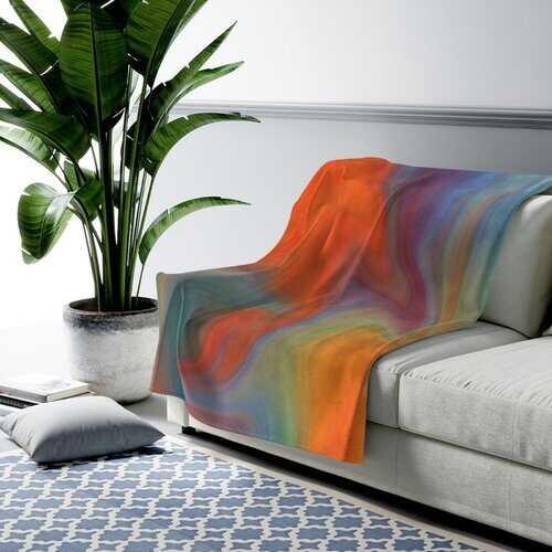 Accent Blankets, Autumn Swirl Style Throw Blanket
