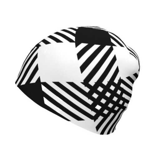 Black And White Plaid Style Beanie