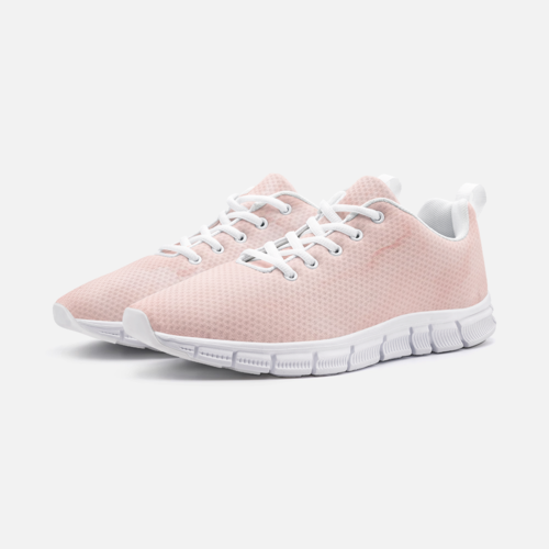 Womens Sneakers, Peach Marble White Bottom Athletic Running Shoes