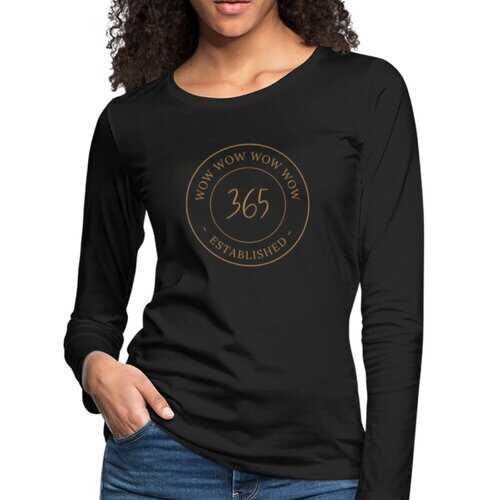 Womens Shirts, Wow 356 Established Graphic Style Long Sleeve Tee