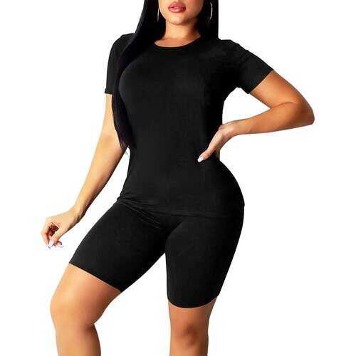 Womens Outfits, Black And Purple Zebra Print Style Womens Short Yoga Set