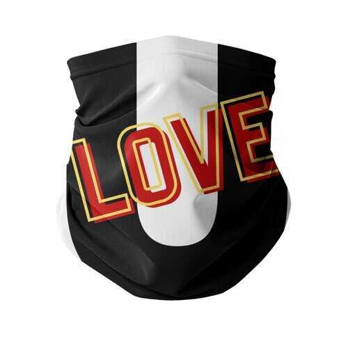 Love U Graphic Style Neck Gaiter