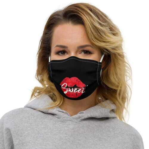 Face Coverings, Sweet Kiss Red Lipstick Style Face Mask