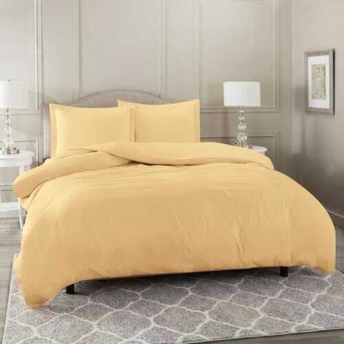 Bedding, Soft Brushed Duvet Cover Set w/Pillow Sham, Camel - King