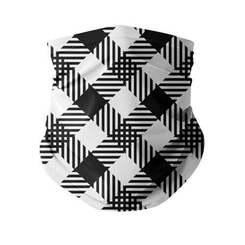 Black And White Plaid Style Neck Gaiter