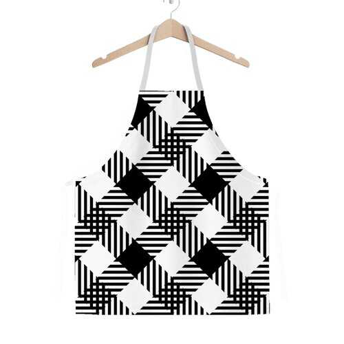 Black And White Plaid Style Classic Adult Apron