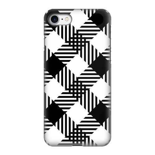 Black and White Plaid Style Tough Phone Case