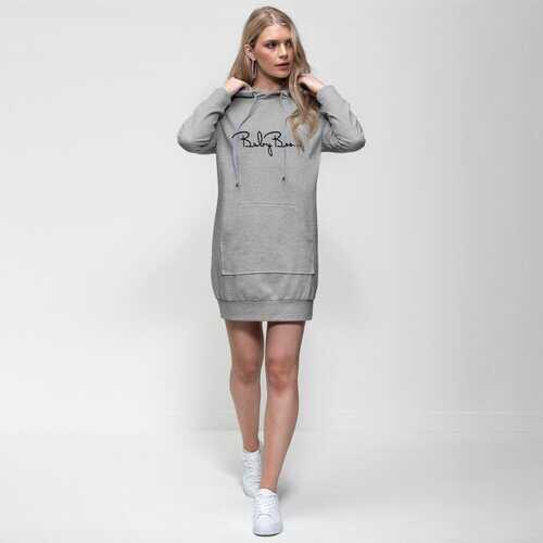 Baby Boo Black Graphic Style Premium Adult Hoodie Dress