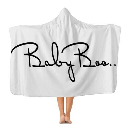 Baby Boo Black Graphic Style Premium Adult Hooded Blanket