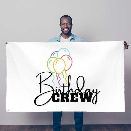 Birthday Crew Decorative Tapestry