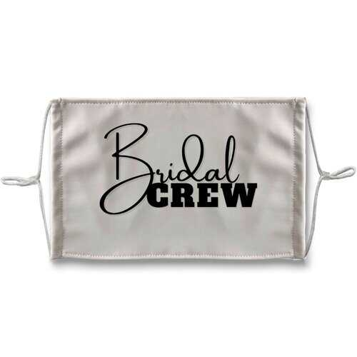 Bridal Crew Graphic Face Mask + 10 Replacement Filters