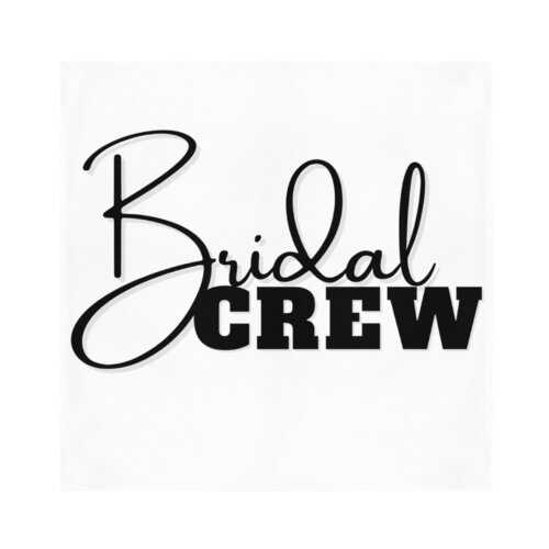 Bridal Crew Graphic Bandana