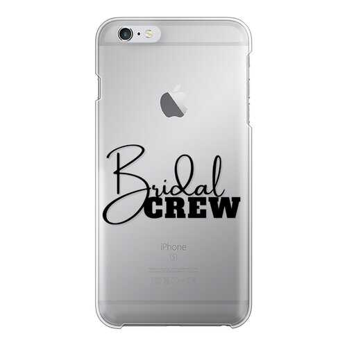 Bridal Crew Graphic Back Printed Transparent Hard Phone Case