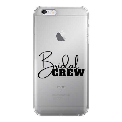 Bridal Crew Graphic Back Printed Transparent Soft Phone Case