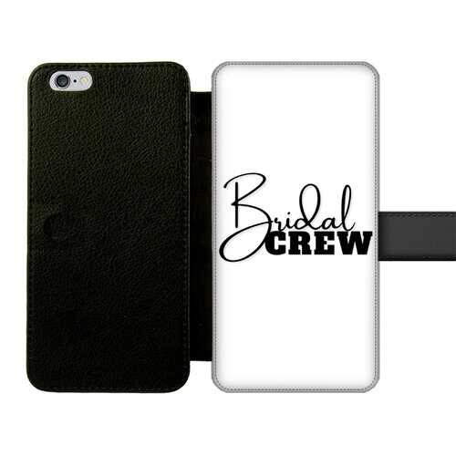 Bridal Crew Graphic Front Printed Wallet Cases