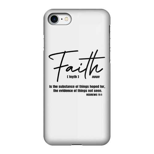 Faith The Substance of Things Hoped For, Black Graphic Text Tough Phone Case
