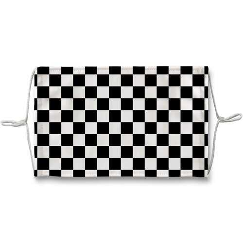 Black And White Checker Style Face Mask + 10 Replacement Filters
