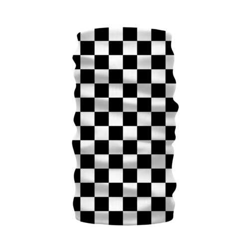Black And White Checker Style Neck Warmer Morf Scarf