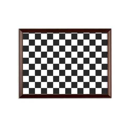 Black and White Checker Style Wall Plaque
